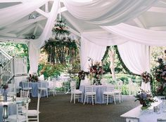 Stunning wedding reception design at CJ's Off the Square, just outside of Nashville, TN. That floral chandelier is amazing! Photo: Austin Gros Venue: CJ's Off the Square, Franklin, TN Florist: The Enchanted Florist Wedding Reception Design, Wedding Colors, Wedding Styles, Wedding Ideas, Tennessee Wedding Venues, Nashville Wedding Venues, Garden Venue, Garden Weddings, All Inclusive Wedding Packages