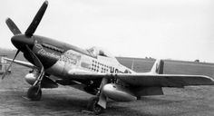 """The original North American P-51D Mustang """"Moonbeam McSwine"""" of William """"Bill"""" Whisner of the 352th Fighter Squadron of the 487th Fighter Group, the famous """"Blue Nosed Bastard of Bodney"""" as named on their base in Britain early 1945."""