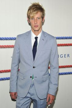 Gabriel Mann Photos - Actor Gabriel Mann poses backstage at the Tommy Hilfiger Men's Spring 2013 fashion show during Mercedes-Benz Fashion Week at Maritime Hotel on September 7, 2012 in New York City. - Tommy Hilfiger Men's - Backstage - Spring 2013 Mercedes-Benz Fashion Week