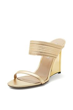 Valencia Mesh Inset Gold Wedge