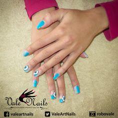 Primavera in azzurro #unghie #springnails #nails #nailart #uvgel #uvcolor #picoftheday #instagood #fashion #beauty #flower #onestroke #indigonailab