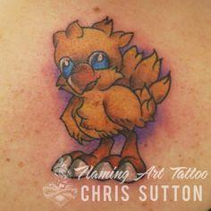 #chocobo #finalfantasy #computergame #videogame #geek #colour #tattoo #tattoos #custom #design #art #artist #tattooartist #illustration #london #england #chrissutton