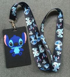 Cartoon Stitch High Quality Lovely Cute Lanyard Id Badge Holder Key Neck Strap Kids Gifts on Gift Ideas 8762 Cute Lanyard Id Holder, Id Badge Holders, Lanyard For Keys, Cute Lanyards For Keys, Shorts E Blusas, Lilo And Stitch Quotes, Lilo Stitch, Cute Disney Outfits, Emerald Wedding Rings