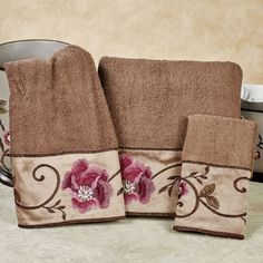 Mind On Design Bath Towels Bathroom Utensils Pinterest - Floral bath towels for small bathroom ideas
