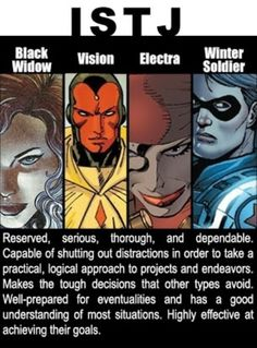 Marvel personality types I AM BLACK WIDOW  POOR BUCKY!!