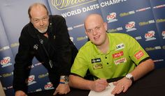 Michael Van Gerwen Signs For The Ship Inn Darts Team