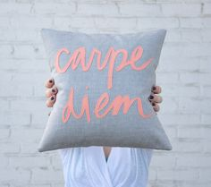 typography thursday :: handmade type pillows by bright july