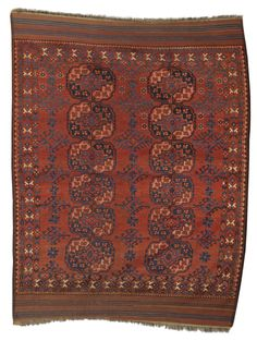 Ersari main carpet, South Turkestan approximately 7ft. 3in. by 6ft. 10in. (2.21 by 2.08m.) circa 1890