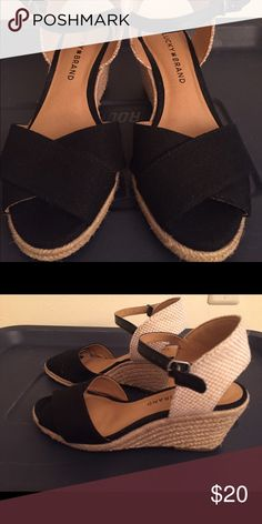 Lucky brand wedges size 6 Only worn to see if they would work, but too narrow. Size 6. Lucky Brand Shoes Wedges