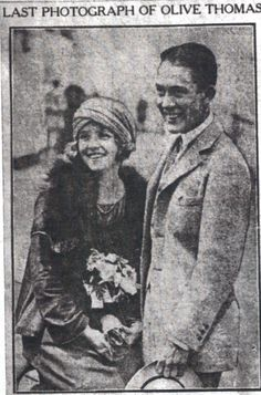 Olive Thomas and Jack Pickford -  the most tragic love story of two Hollywood stars.  I don't know why a movie has not been made about this, it would make a great film.