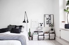 B&W bedroom | minimal | scandinavian
