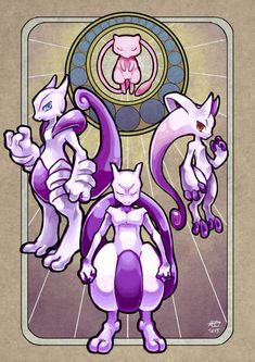 "Another piece of work I drew for Pokemon Mega Evolution art book. I play PKMN Y, but I prefer Mega Mewtwo X ;"" I tried to make it looks like art nou. Pokemon Fusion, Mega Pokemon, Pokemon Fan Art, Pikachu Art, Mega Mewtwo, Mew And Mewtwo, Pichu Pokemon, Pokemon Eeveelutions, Photo Pokémon"