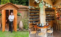 Now that really is a local! Shed transformed into a pub crowned Britain's best in annual competition