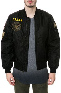 Wutang Brand Limited Jacket The Airforce One Flight Jacket in Black - Karmaloop.com