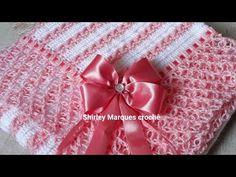 Quilt Block Patterns, Crochet Blanket Patterns, Baby Blanket Crochet, Baby Knitting Patterns, Crochet Baby, Knit Crochet, Crochet Woman, Crochet Videos, Crochet For Kids