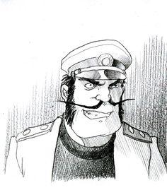 "Little tribute to  Miyazaki's "" Future boy Conan"". Captain Dyce.  #futureboyconan #miyazaki #captaindyce #conan #stefanotamiazzo"