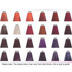 wella touch colour chart: Wella color touch demi permanent hair color color swatch charts