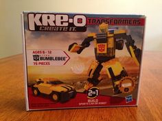 Kreo Transformers Bumblebee 31144 Sports Car Or Robot 2 In 1 Hasbro New Sealed