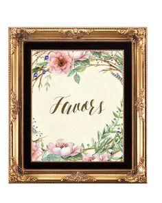 wedding favors sign, digital wedding sign, ivory wedding sign, rustic wedding sign, floral favors sign, rustic favors sign, 8x10 by OurFriendsEclectic on Etsy