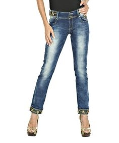 Love this Blue Sequin Straight-Leg Jeans on #zulily! #zulilyfinds  $39.99