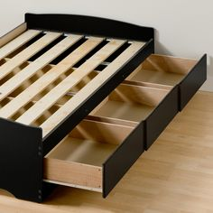 Sonoma Storage Platform Bed without Headboard by Prepac