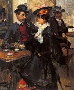 Isaac Israëls (1865-1934) - Au cafe