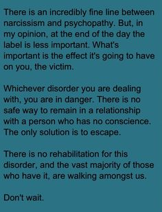 Psychopath Narcissists Are Dangerous - so was my (ex) husband.... I nearly lost my life.... please speak up....