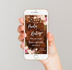 Save the Date Rústico - Digital