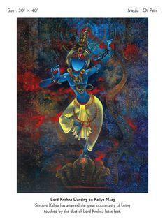 Lord Ganesha Paintings, Lord Shiva Painting, Krishna Painting, Krishna Art, Shree Krishna, Lord Krishna, Pichwai Paintings, Indian Art Paintings, Dancing Ganesha