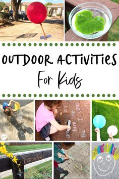 There's lots to do outside! Check out this huge collection of fun and easy outdoor activities for kids and have some fun in the sun. #outdooractivitiesforkids #outdoorlearning #outdooractivities Outdoor Activities For Kids, Outdoor Learning, Summer Activities For Kids, Creative Activities, Craft Activities For Kids, Outdoor Play, Summer Kids, Learning Activities, Teaching Resources