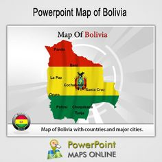 Map of usa populated cities interactive powerpoint maps of usa editable bolivia powerpoint maps ppt templates on bolivia map bolivia maps toneelgroepblik Image collections