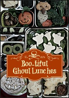 Spookilicious lunch box treats! -- It's never too early to start planning for Halloween lunches!