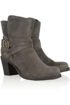 Fiorentini & Baker|Nubis shearling-lined suede ankle boots|NET-A-PORTER.COM