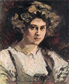 Konstantin Korovin (Russian 1861–1939) [Impressionism, Art Nouveau] Portrait of…