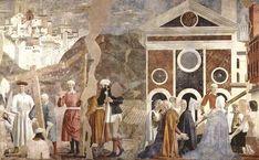 Piero della Francesca,, Discovery and Proof of the True Cross, c. 1460, fresco, (356 x 747 cm), San Francesco, Arezzo