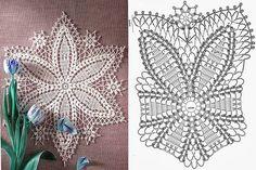 Tina's handicraft : 6 designs for tablecloth Crochet Dollies, Crochet Stars, Crochet Potholders, Doily Rug, Doilies, Crochet Pillow Pattern, Crochet Patterns, Filet Crochet, Knit Crochet