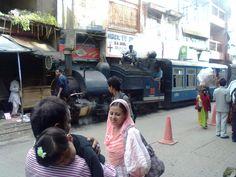 Narrow Gauge Darjeeling Himalayan Railway, passing through Kurseong town.