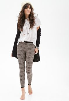 Geo Stripe Leggings