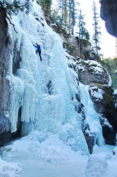 10 Activities That Will Get You Excited for Winter in Alberta - Hike Bike Travel-- 10 Activities that will get you excited for winter in Alberta – Ice-climbing in Maligne Canyon, Jasper National Park Ice Climbing, Mountain Climbing, Banff National Park, National Parks, Hiking Photography, Visit Canada, Cross Country Skiing, Winter Travel, Canada Travel