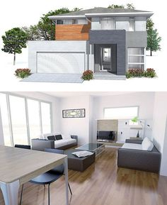 Popular Modern House with three bedrooms and two living areas. Covered terrace.