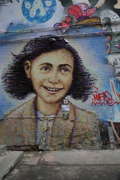 streetart #Anne Frank in a small street in Mitte!