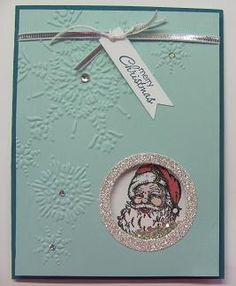 Shaker card using Stampin'Up!'s Shaker Frames and Best of Christmas stamp set
