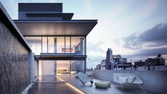 Images of the penthouse at Japanese architect Tadao Ando's residential complex i… - Modern Tadao Ando, Modern Architecture House, Modern House Design, Architecture Design, Fashion Architecture, Concrete Architecture, The Sims, Residential Complex, Destinations