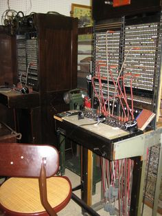 Old telephone operator's station. History Museum, North Platte, NE