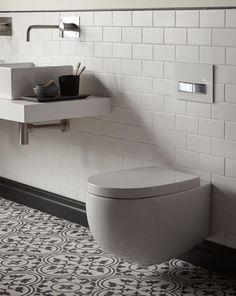 Nice floor tiles, wall tiles and space saving sanitaryware