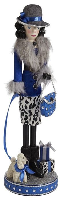 Lady in Blue Nutcracker   The House of Beccaria~