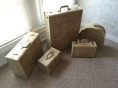 Vintage Ivory Marbled Samsonite Luggage Set and Key | eBay