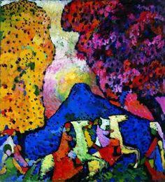 Vasily Kandinsky, Blue mountain (Der blaue Berg)