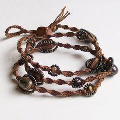 macrame wrap bracelet. Someone please make this for me!! (Hint, hint, Autumn)