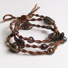 macrame wrap bracelet. Someone please make this for me!! (Hint, hint, Autumn)